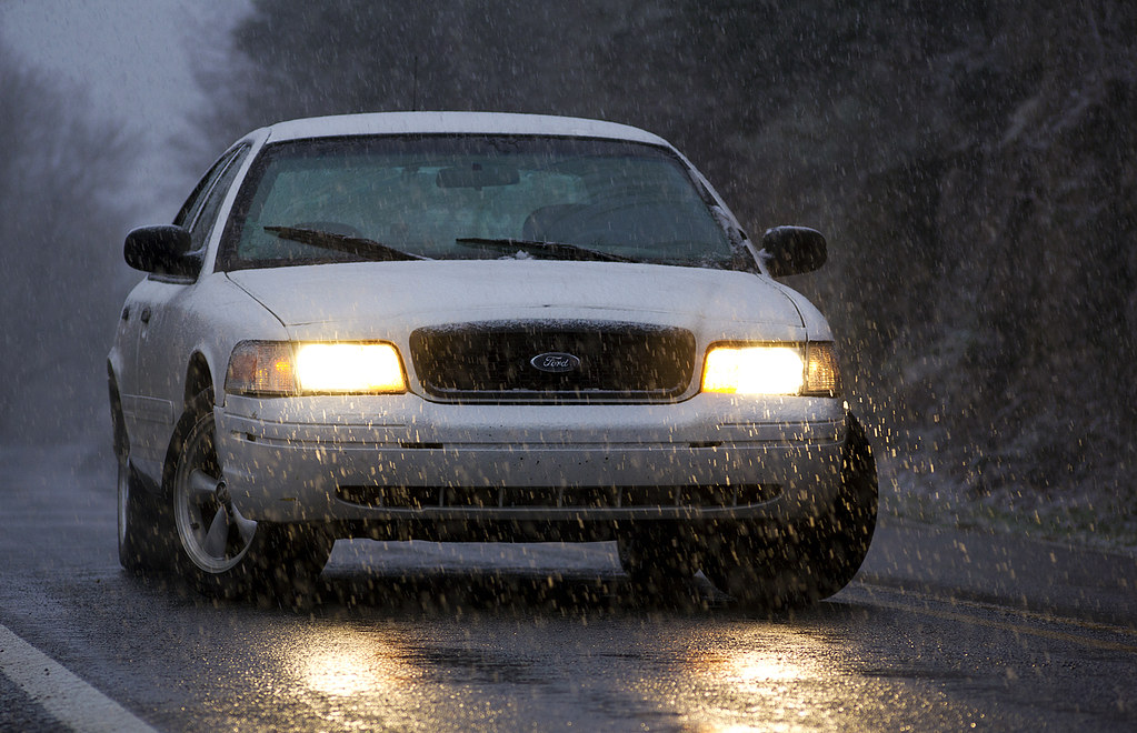 Crown Vic Snow Day By Tgh