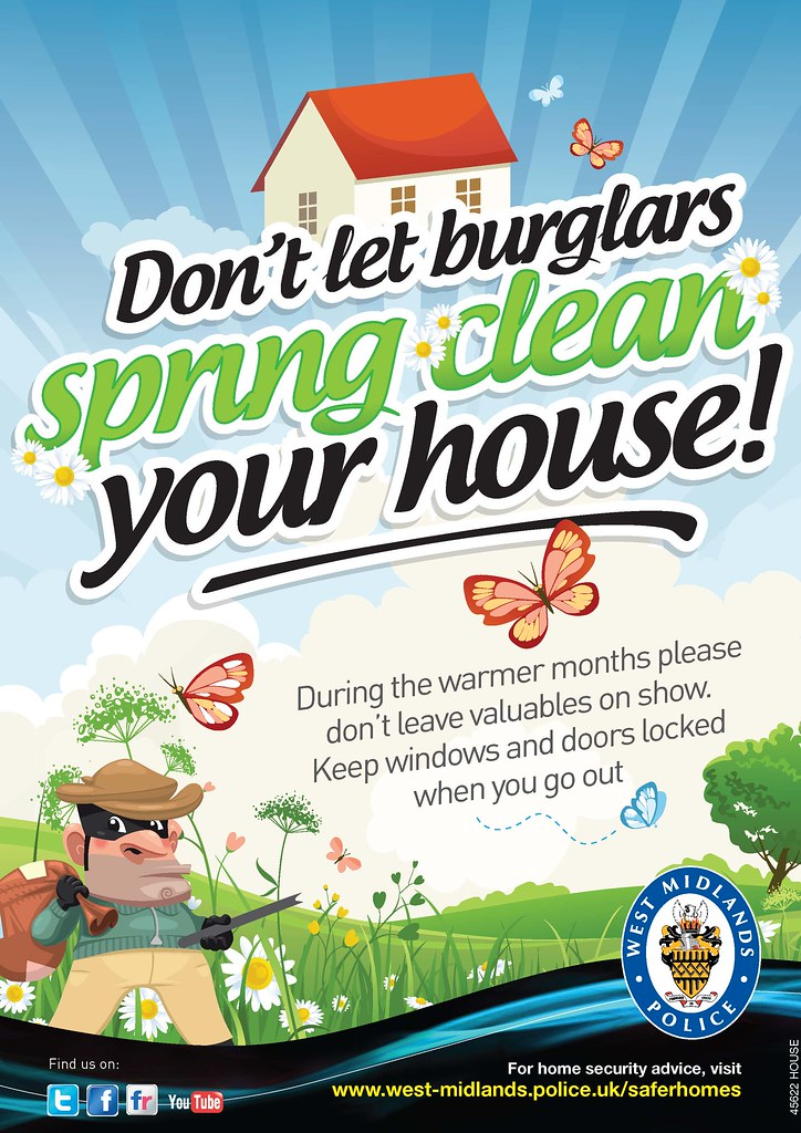 Don T Let Burglars Spring Clean Your House Lighter
