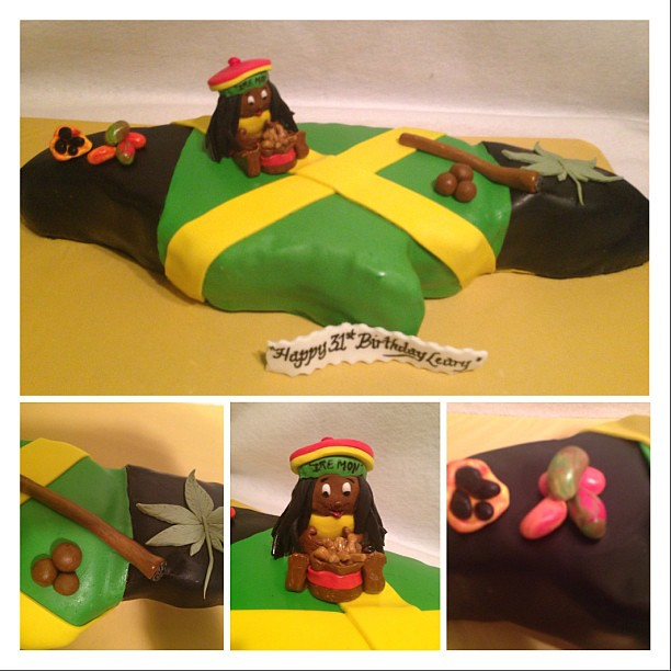 Happy 31st Birthday Map of JamaicaFlag Cakes Ayanna Thompson Flickr