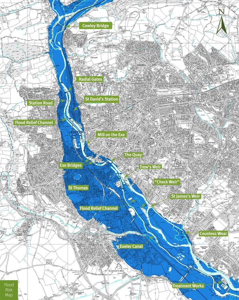 Check Your Flood Risk In Exeter This Plan Shows The Possib Flickr - Flood check map