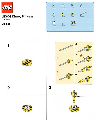 LEGO Disney Princess Toys R Us Lumiere Building Instructions - The ...