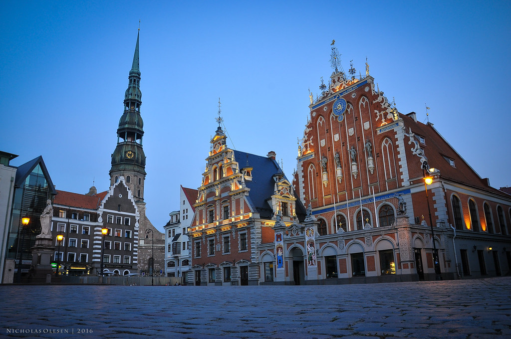 Riga - Blackheads House at Blue Hour