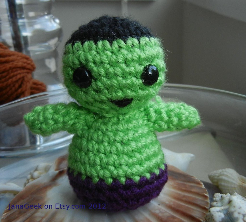 Avengers Incredible Hulk Crochet Doll You Can Download My Flickr