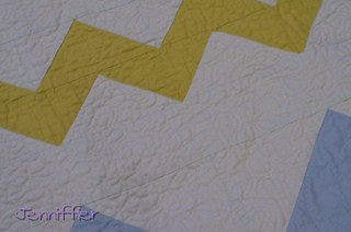 close up zigzagged quilt | by Jenniffier