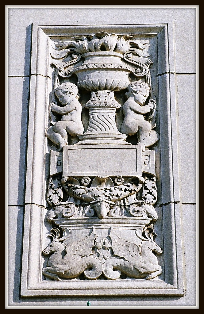 Decorative stone carving general motors building now cad