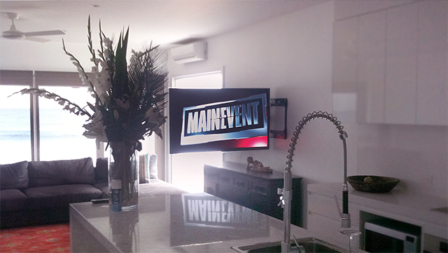 Tv Install On Swing Arm Home Theatre Designs Flickr