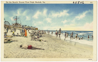 On the beach, Ocean View Park, Norfolk, Va. | by Boston Public Library