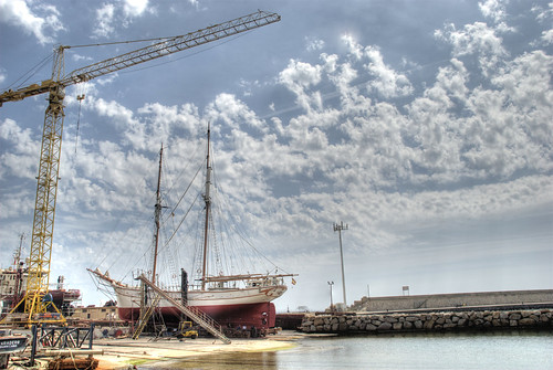 Goleta en el astillero puerto de burriana castellon spain - Puerto burriana ...