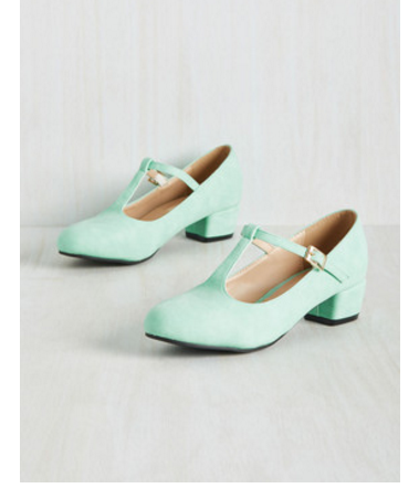 mint mary jane heels