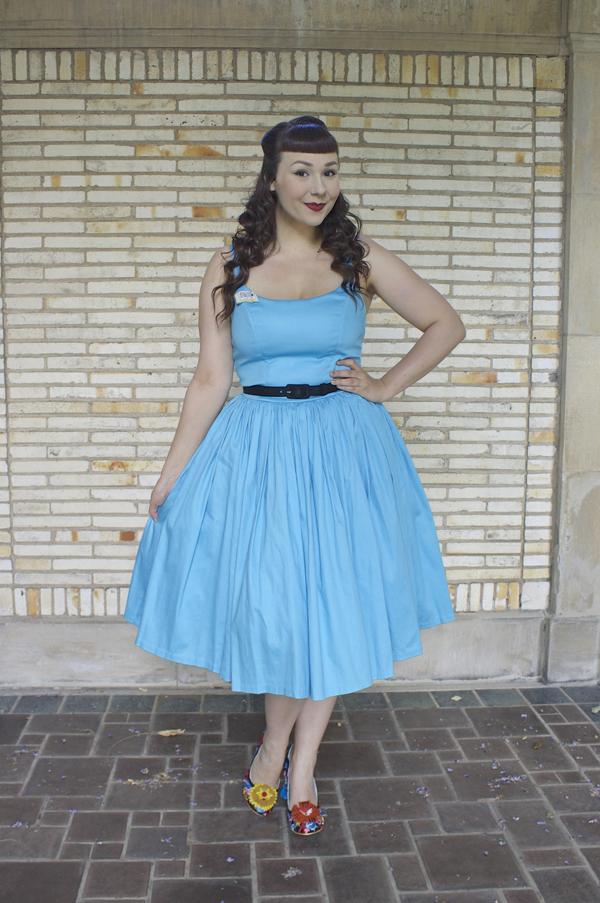 Pinup Girl Clothing Jenny Dress Sky Blue