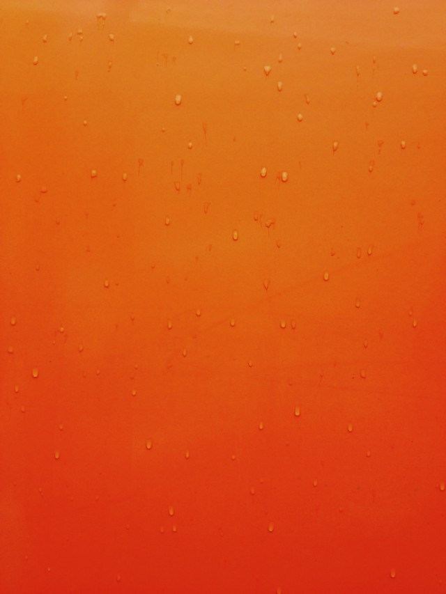 raindrops on orange van