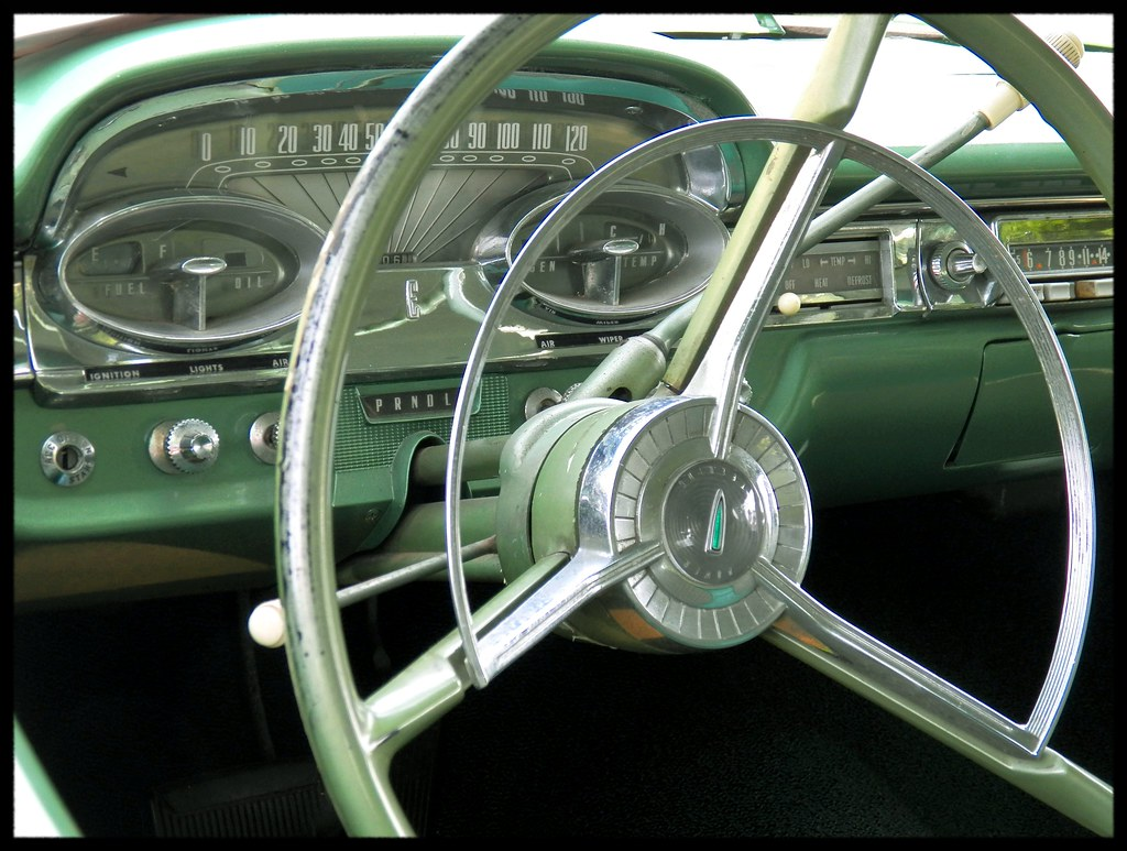 green edsel dash this very clean and nice looking dash