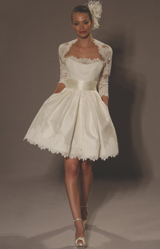 strapless ivory romantic mini baby doll short wedding dres…   Flickr