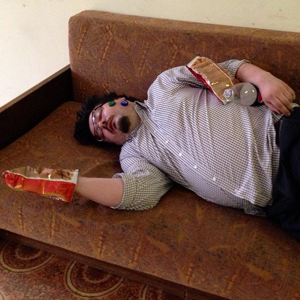 скачки на спящем мужике