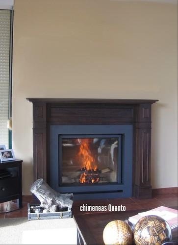 Chimenea clasica quento modelo alo con stuv 95 www - Chimeneas quento ...