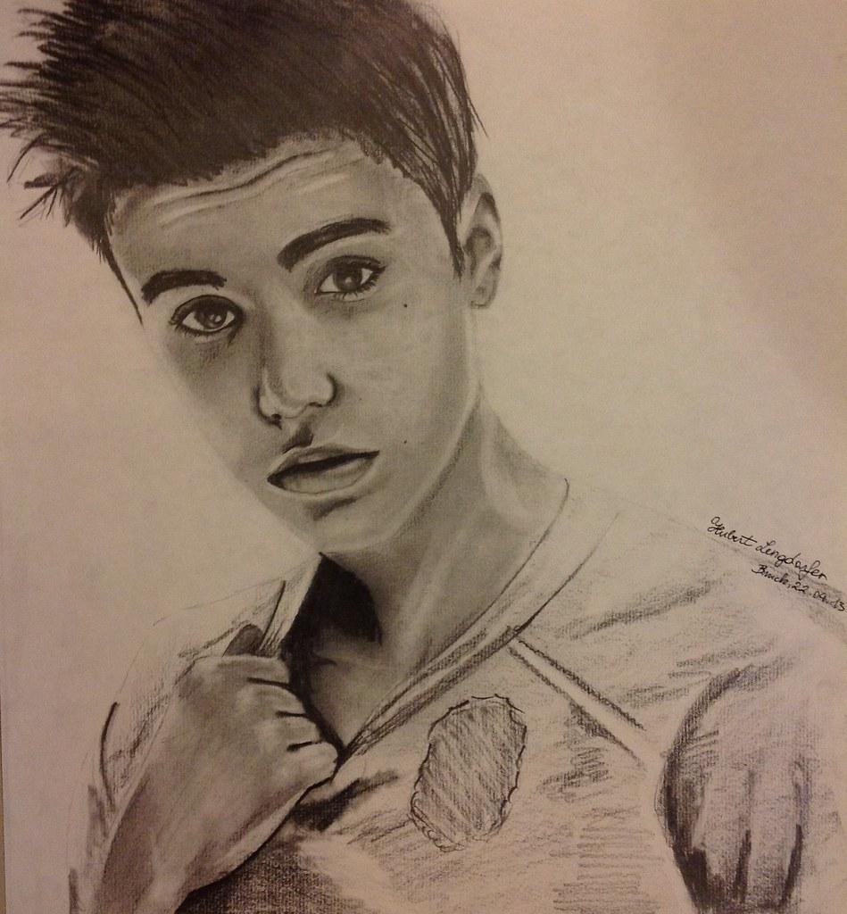 Justin Bieber Pencil Drawing | Made By Hubert Lengdorfer My U2026 | Flickr