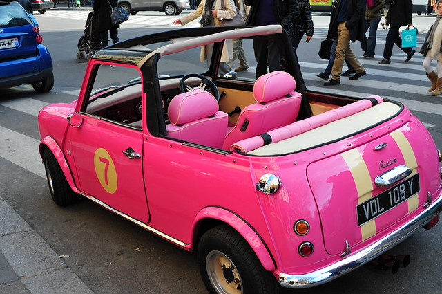 pink austin mini cooper convertible flickr photo sharing. Black Bedroom Furniture Sets. Home Design Ideas