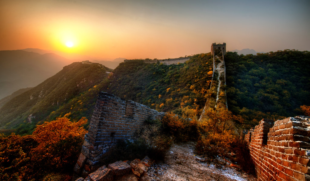 The New Garden Path Along the Great Wall of China | Just ...