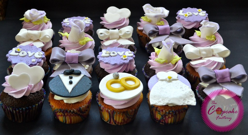 bridal shower cupcakes by the cupcake factory barbados