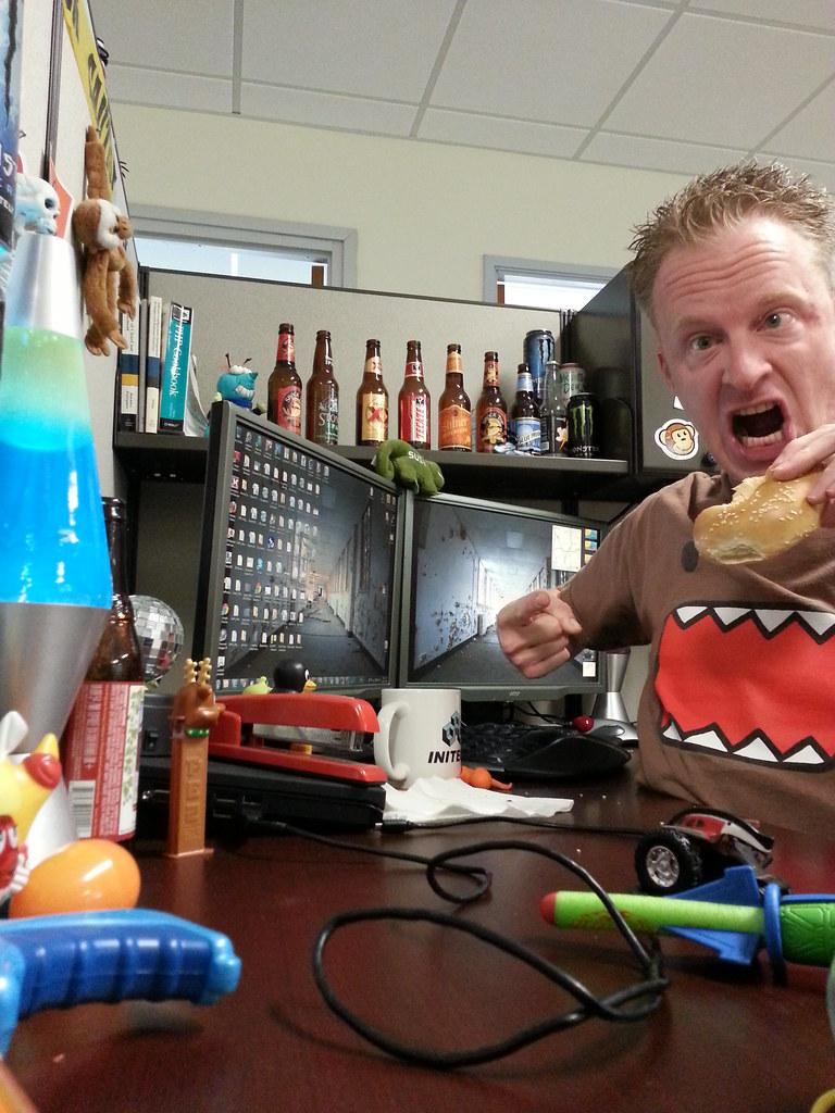 ... Domo Face. Geek At Work. #casualfriday #work #geek #officelife #