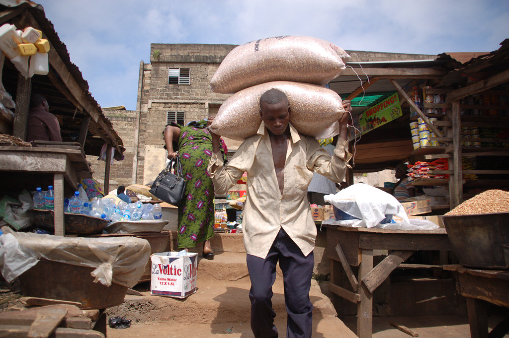 Image result for load carriers at bodija market