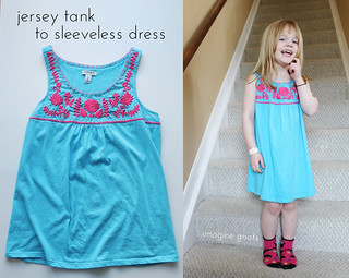 jersey tank to sleeveless dress | by imaginegnats