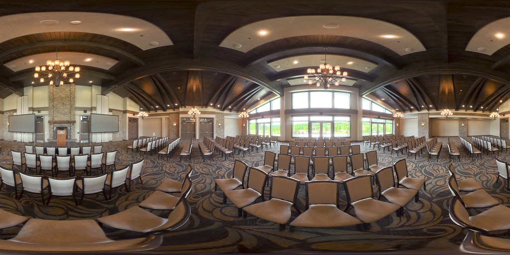 Image: 360-degree image of the Overlook Room in the Highland Lodge