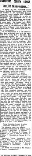 MunsterExpress_2Dec1916_WaterfordCountyFinalHurling | by guliolopez