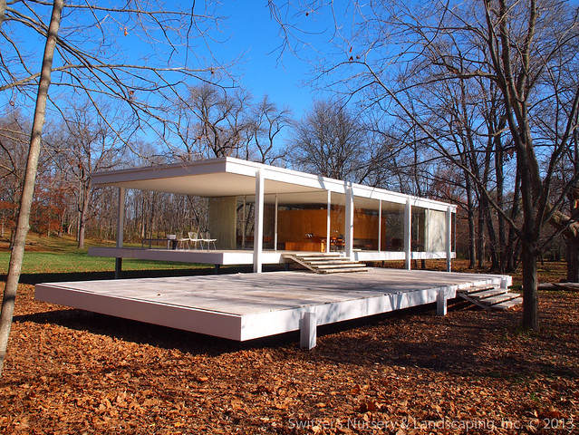 the edith farnsworth house by ludwig mies van der rohe. Black Bedroom Furniture Sets. Home Design Ideas