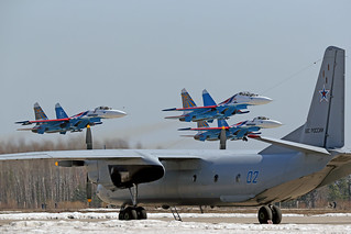 "Su-27 ""Russian Knights"" and An-26 