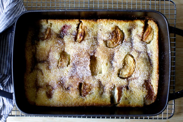 magic apple plum cobbler