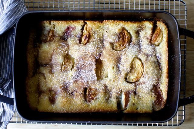 magic apple plum cobbler
