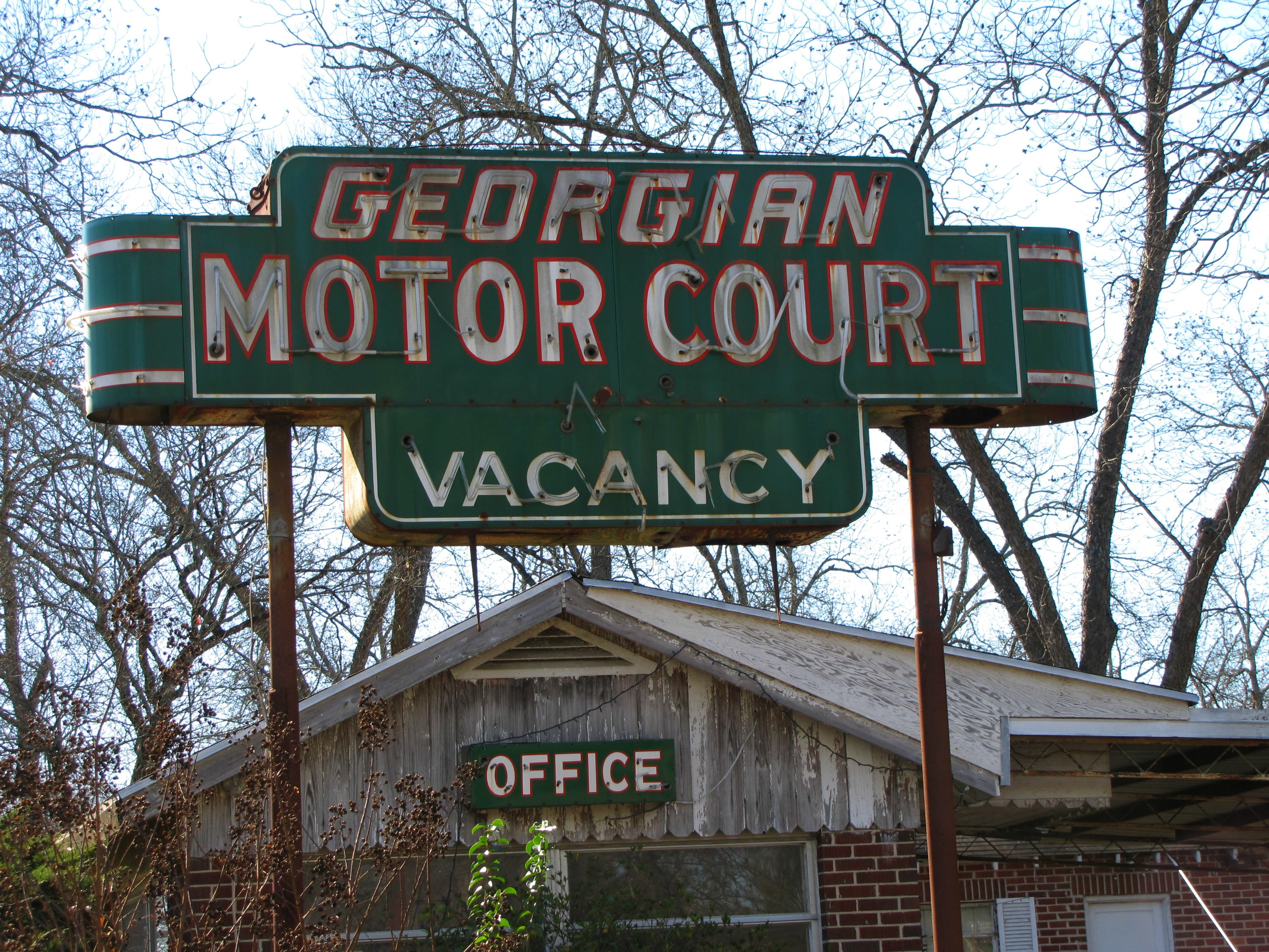 Georgian Motor Court - on old U.S. Route 41 in Cordele, Georgia USA - December 21, 2012