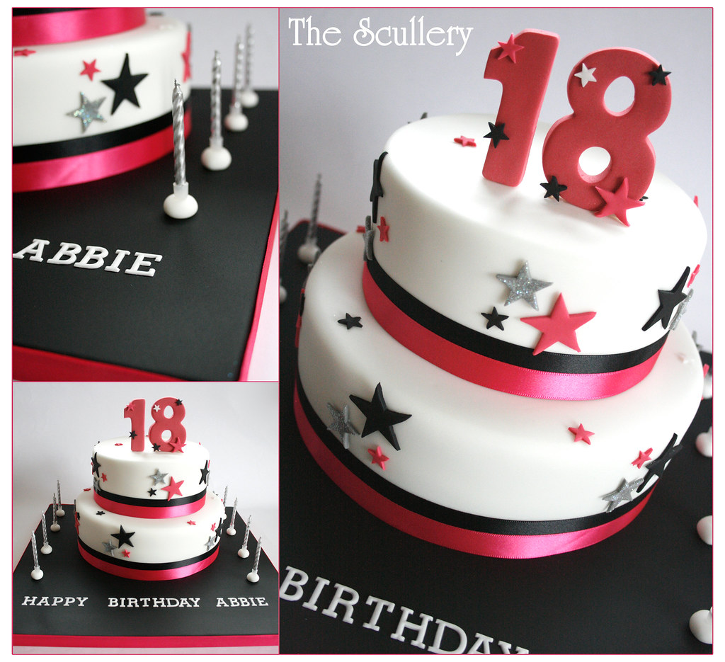 18th Birthday Cake Customers Own Design The Scullery