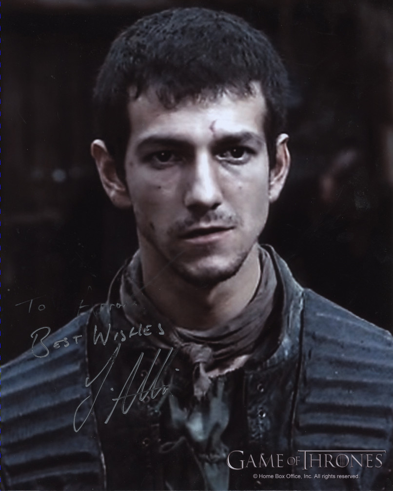 Josef Altin - Pyp in Game of thrones autograph | Aaron ...