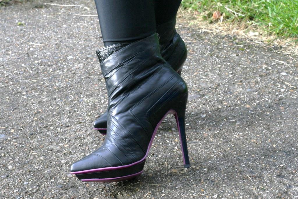 River Island (Amaze F.Ange) Black Leather Stiletto Ankle B…   Flickr