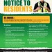 Notice to residents - burglary in the area