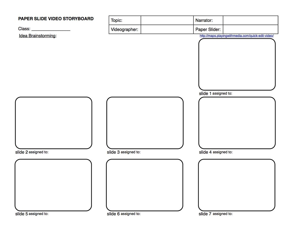 Paper Slide Video Rubric And Planning Guide 2 Of 3 Flickr