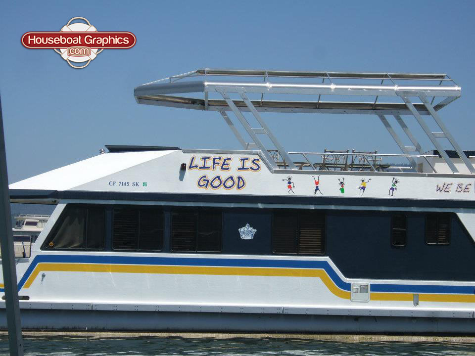 Graphics For Houseboat Graphics Wwwgraphicsbuzzcom - Custom houseboat vinyl numbers