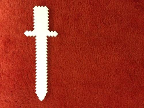 how to make a minecraft iron sword