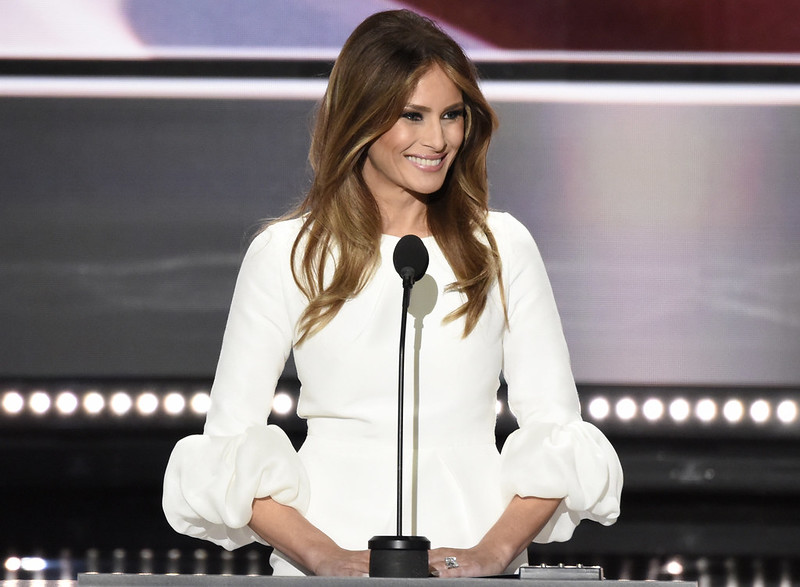 Melania Trump speaking at the 2016 RNC. (Disney | ABC Television Group)