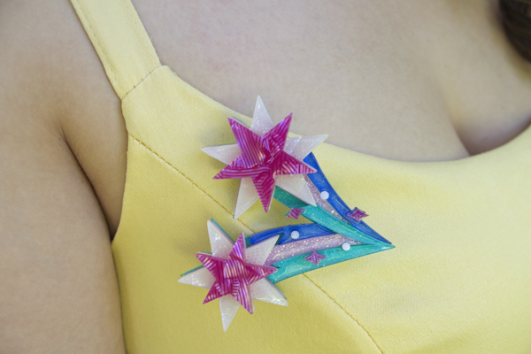 erstwilder star burst brooch