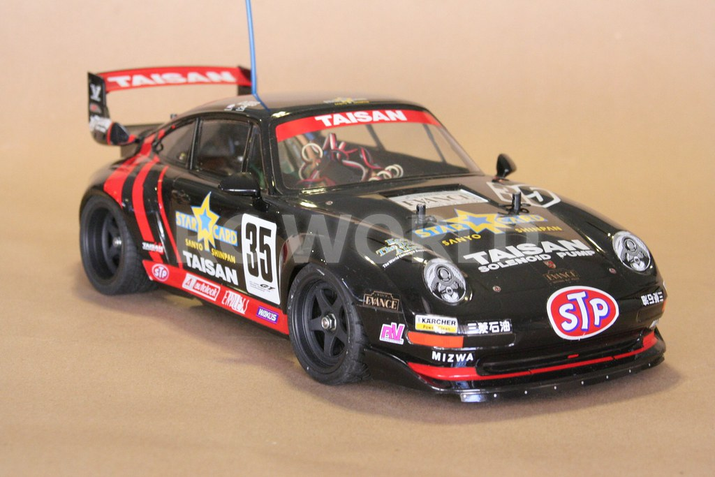 tamiya 1 10 rc porsche 911 gt2 turbo taisan starcard ta02s. Black Bedroom Furniture Sets. Home Design Ideas