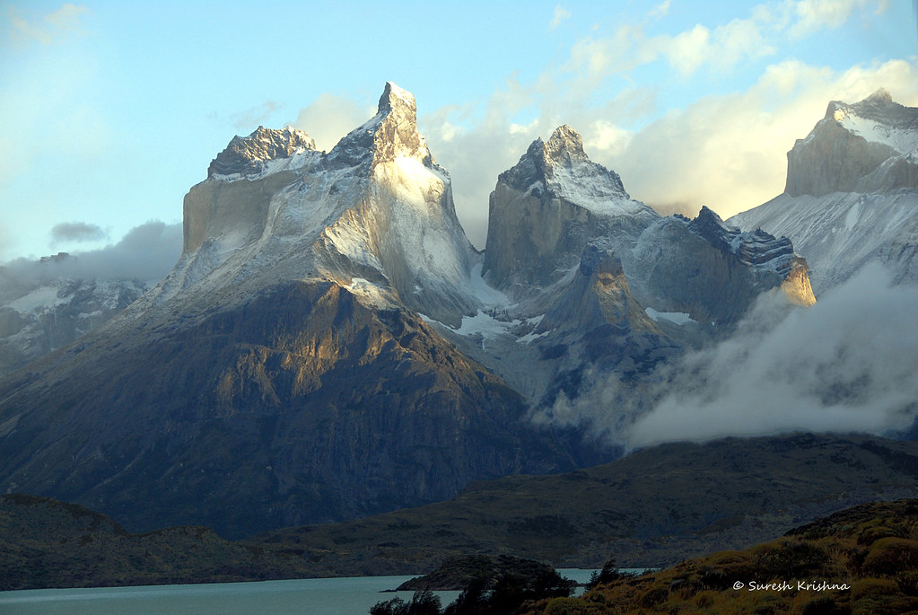 A balmy day after the storm, Torres del Paine NP, Patagoni ...