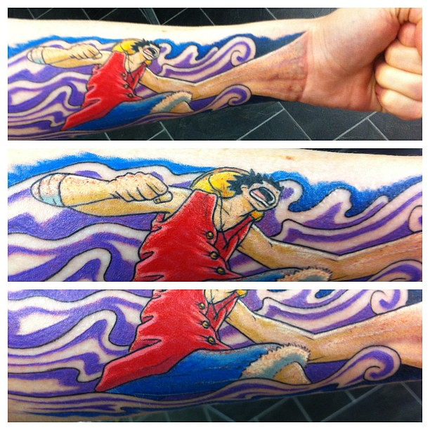 Luffy From One Piece! This Tattoo Made My Day Yesterday