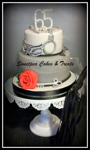 Fifty Shades Of Grey Themed Cake Tiered Fifty Shades Of