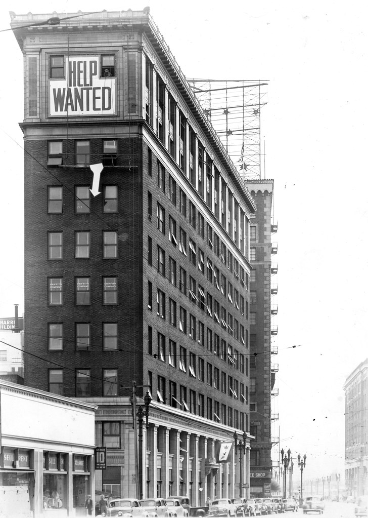 help wanted sign on los angeles railway headquarters build flickr. Black Bedroom Furniture Sets. Home Design Ideas