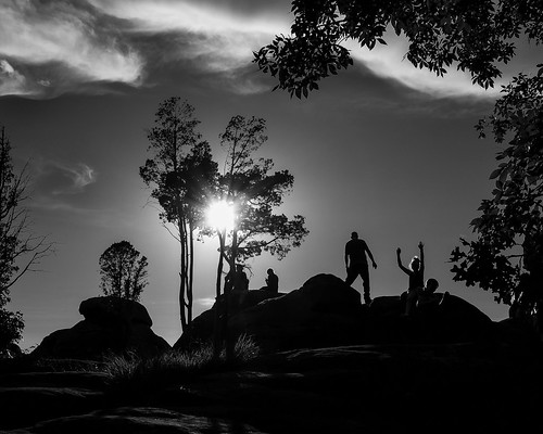 Sunset Silhouettes in the Garden of the Gods.