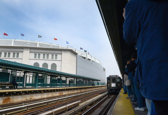 Nostalgia Train to Yankee Stadium, by flickr user MTA, licensed by Creative Commons.