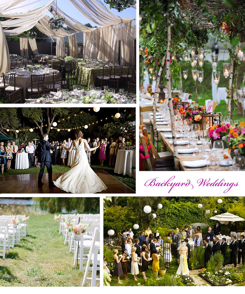 Beautiful Outdoor Wedding Ideas: Beautiful Backyard Weddings